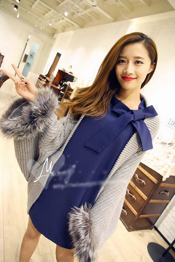 DRESS WANITA MODEL KOREA BIRU 2015 CANTIK