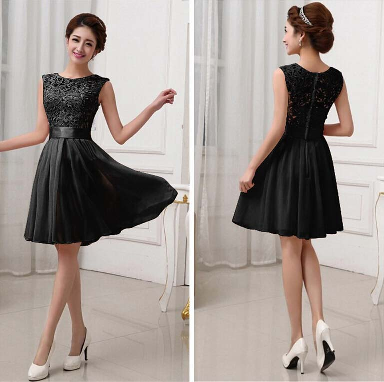 DRESS WANITA WARNA HITAM CANTIK 2015 FASHION