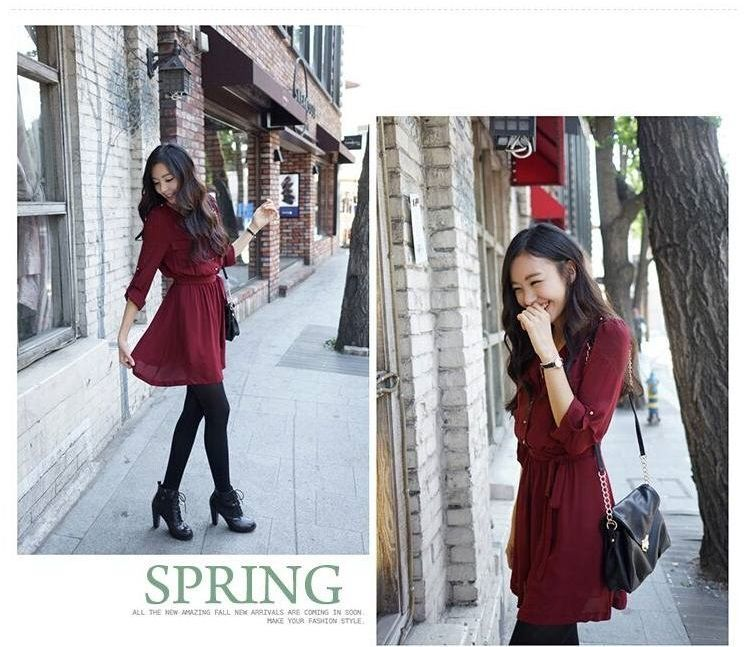 DRESS MERAH CASUAL TERBARU 2015 MODERN