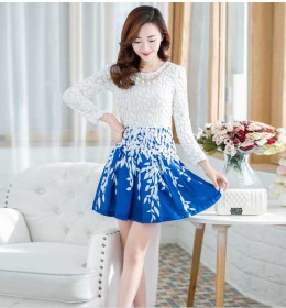 DRESS PUTIH WANITA CANTIK KOREA 2016 KOREA