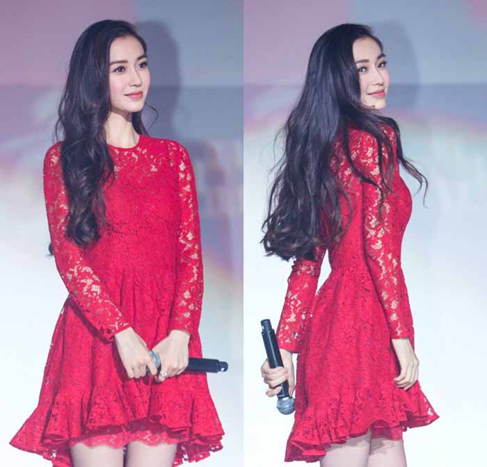 MINI DRESS KOREA MERAH LENGAN PANJANG