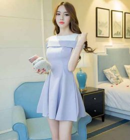DRESS PESTA WANITA CANTIK IMPORT 2018