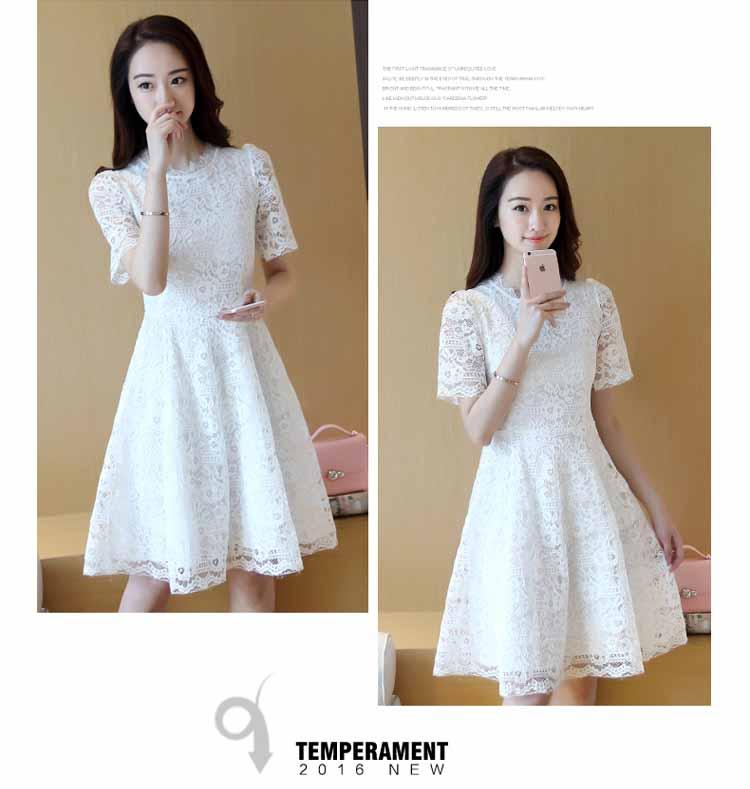 DRESS BROKAT ELEGANT KOREA 2018 FASHION