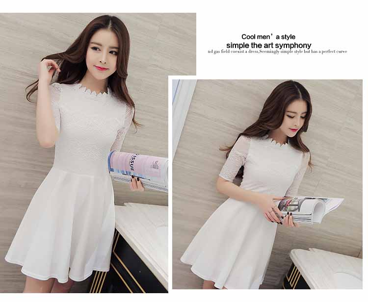 DRESS PUTIH ELEGANT ONLINE IMPORT 2016 FASHION