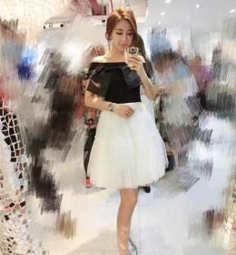 JUAL DRESS BALERINA HITAM PUTIH IMPORT 2016