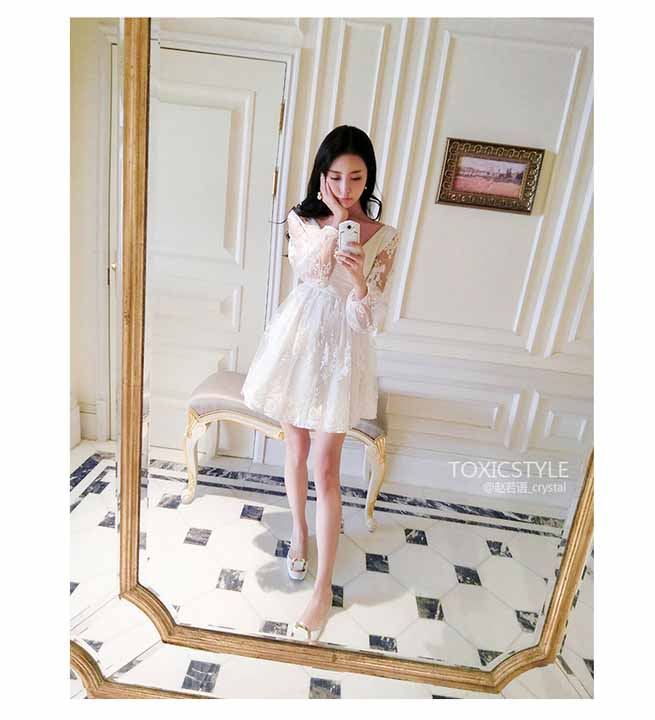 MINI DRESS BROKAT ELEGANT TERBARU 2016 FASHION