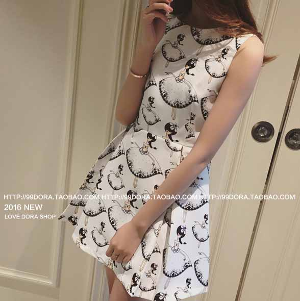 MINI DRESS LENGAN BUNTUNG BERMOTIF 2016 FASHION