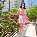 MINI DRESS PINK LENGAN BUNTUNG 2016 FASHION