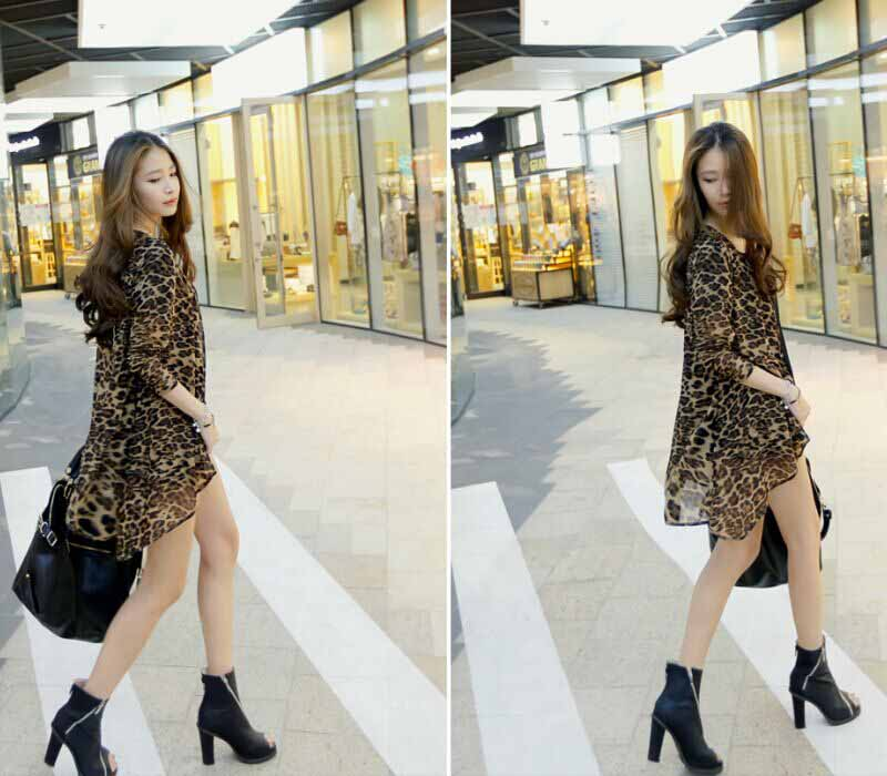 CARDIGAN LEOPARD SIMPLE IMPORT 2016 FASHION
