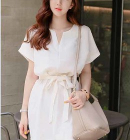 DRESS PUTIH SIMPLE IMPORT TERBARU 2016