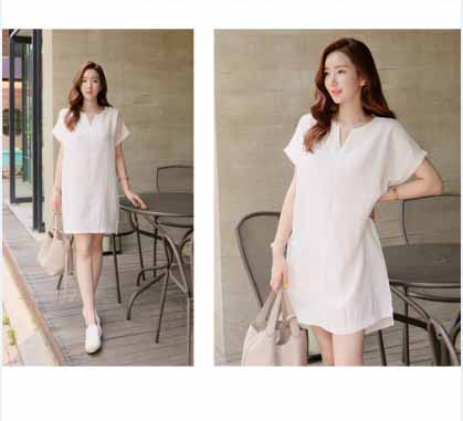 DRESS PUTIH SIMPLE IMPORT TERBARU 2016 FASHION