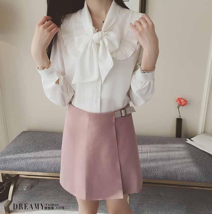 blouse-putih-pita-lengan-panjang-2016-terbaru