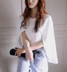 Blouse Korea Warna Putih Murah
