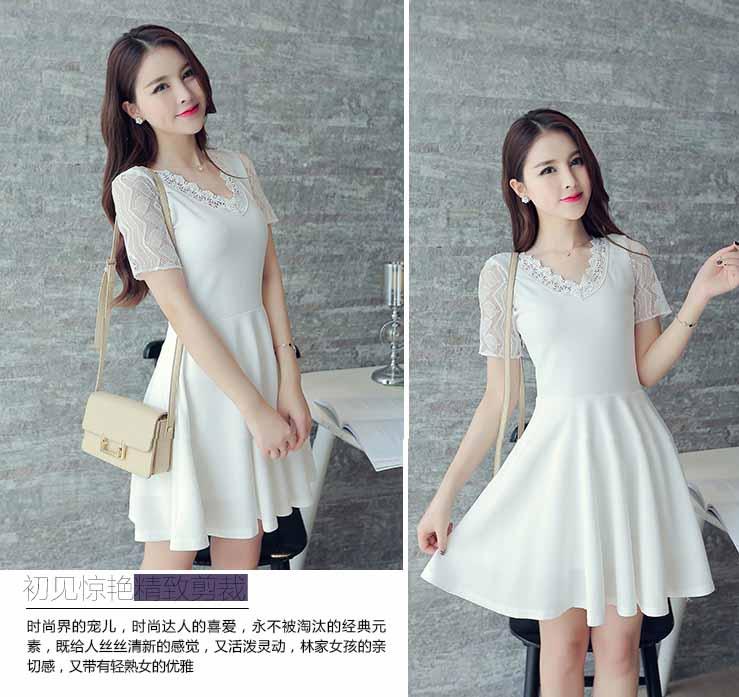jual-dress-putih-lengan-pendek-korea-2016