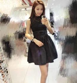 jual-mini-dress-renda-hitam-cantik-terbaru
