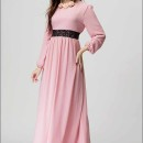 long-dress-lengan-panjang-pink-2016-korea