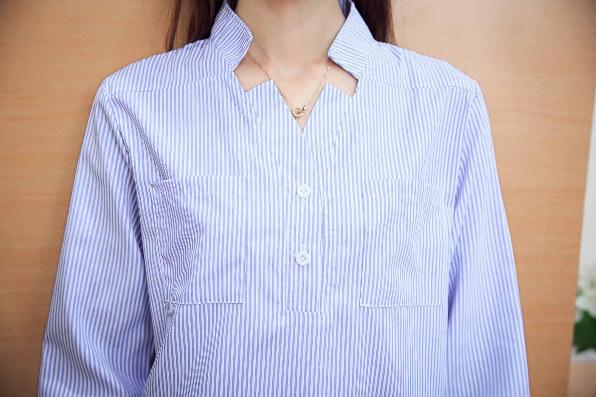 baju-atasan-garis-garis-lengan-panjang-korea