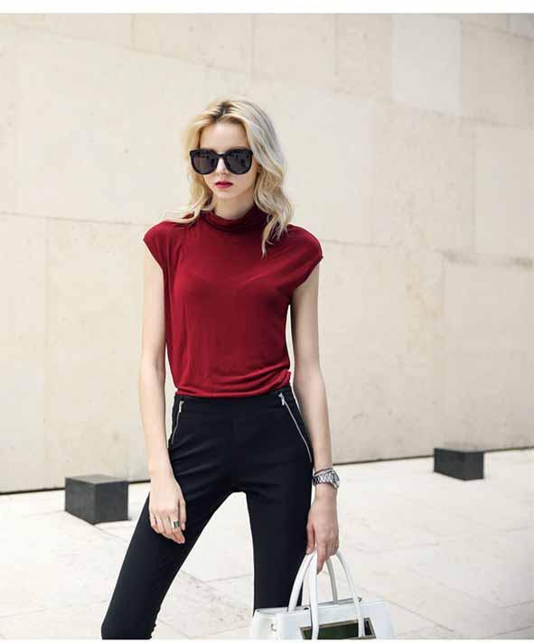 baju-wanita-merah-simple-terbaru-2016-fashion