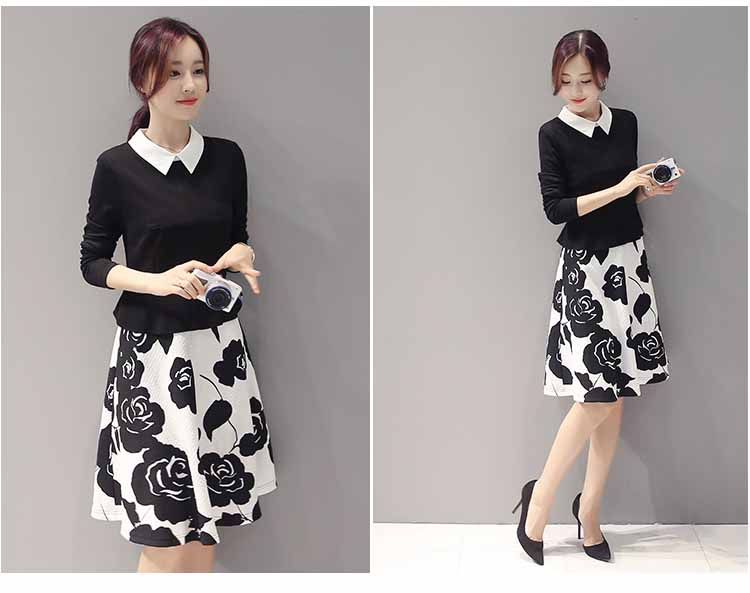 dress-flower-korea-cantik-2016-korea