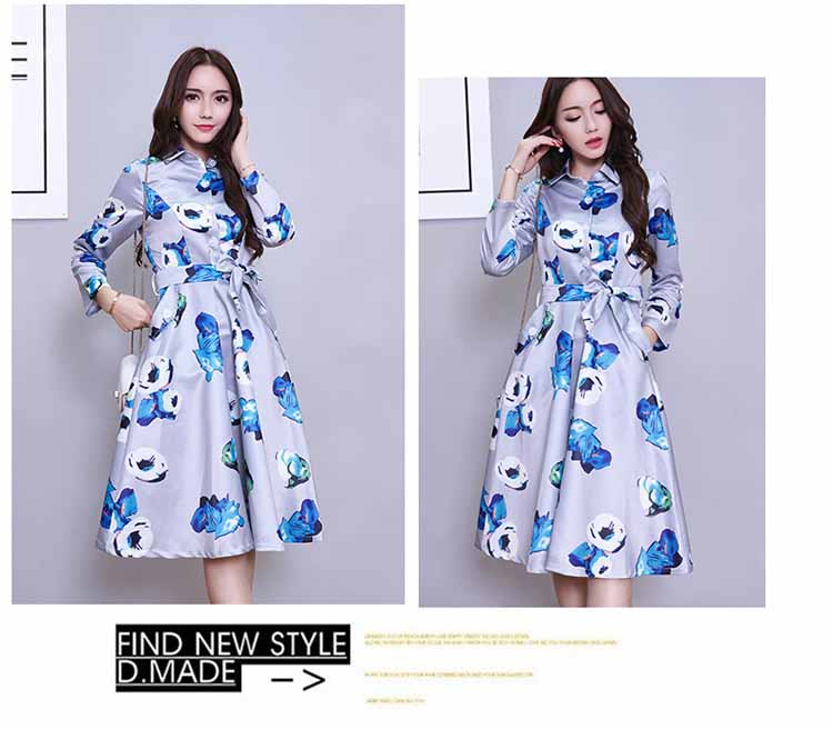 dress-motif-bunga-pita-elegant-2016-korea