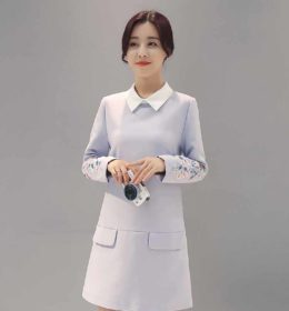 dress-wanita-korea-simple-elegant-terbaru