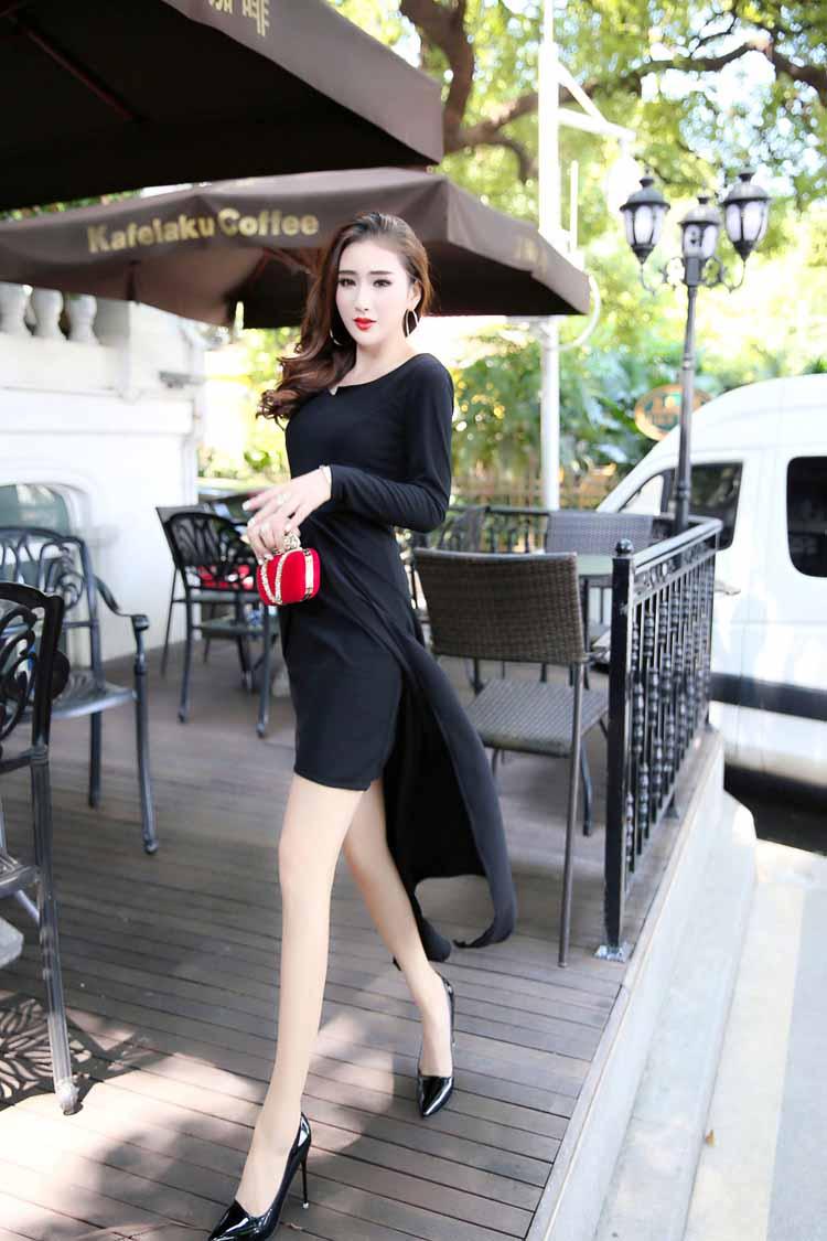 jual-dress-korea-hitam-elegant-online-2016
