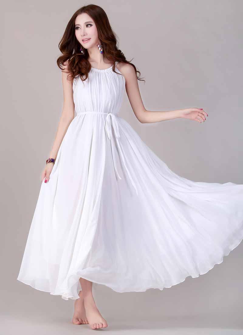 jual-long-dress-putih-cantik-elegant-terbaru