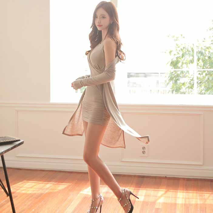 jual-mini-dress-lengan-buntung-korea-elegant