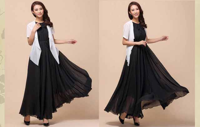 long-dress-pesta-hitam-elegant-2016-terbaru