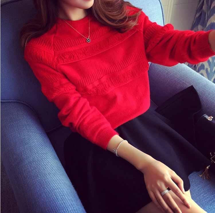 sweater-merah-lengan-panjang-terbaru-2016-korea