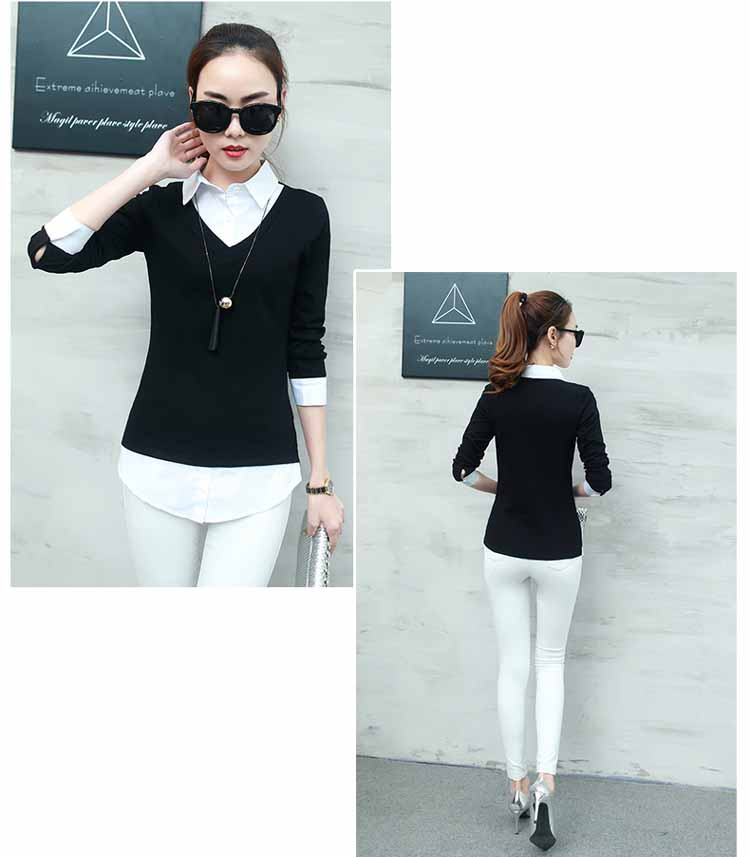 BAJU ATASAN SIMPLE HITAM PUTIH TRENDY FASHION