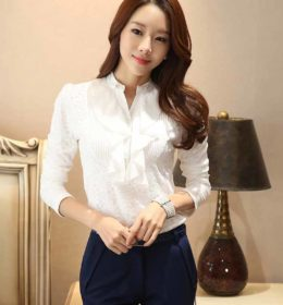 BLOUSE WANITA PUTIH MODEL FORMAL ELEGANT FASHION