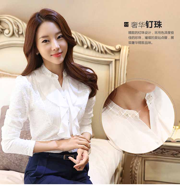 BLOUSE WANITA PUTIH MODEL FORMAL ELEGANT