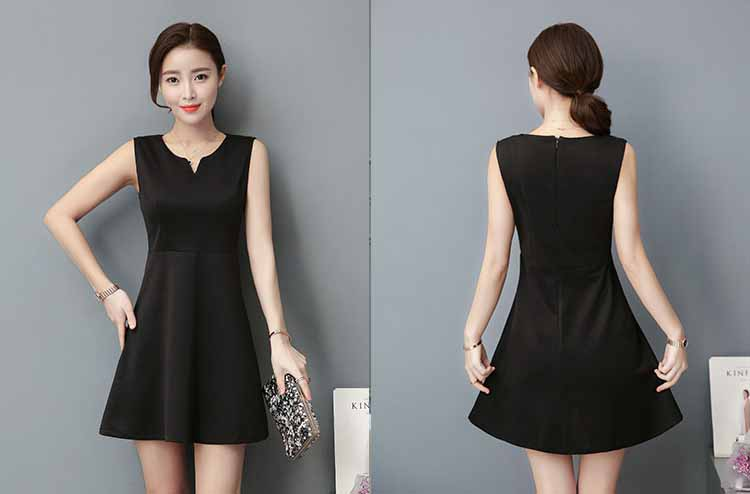 DRESS WANITA LENGAN BUNTUNG HITAM ELEGANT FASHION