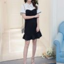 DRESS WARNA HITAM PUTIH SIMPLE TERBARU