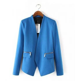 BLAZER WANITA WARNA BIRU MODEL CASUAL
