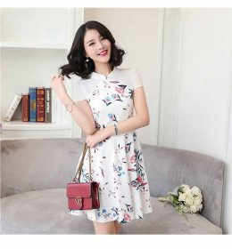 DRESS PESTA PUTIH MOTIF CANTIK TERBARU