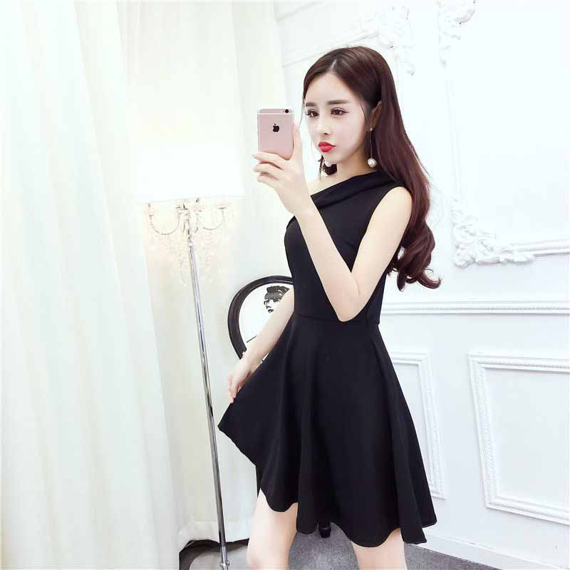 DRESS PESTA WANITA CANTIK HITAM ELEGANT FASHION