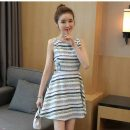 DRESS SIMPLE STRIPE LENGAN BUNTUNG 2017
