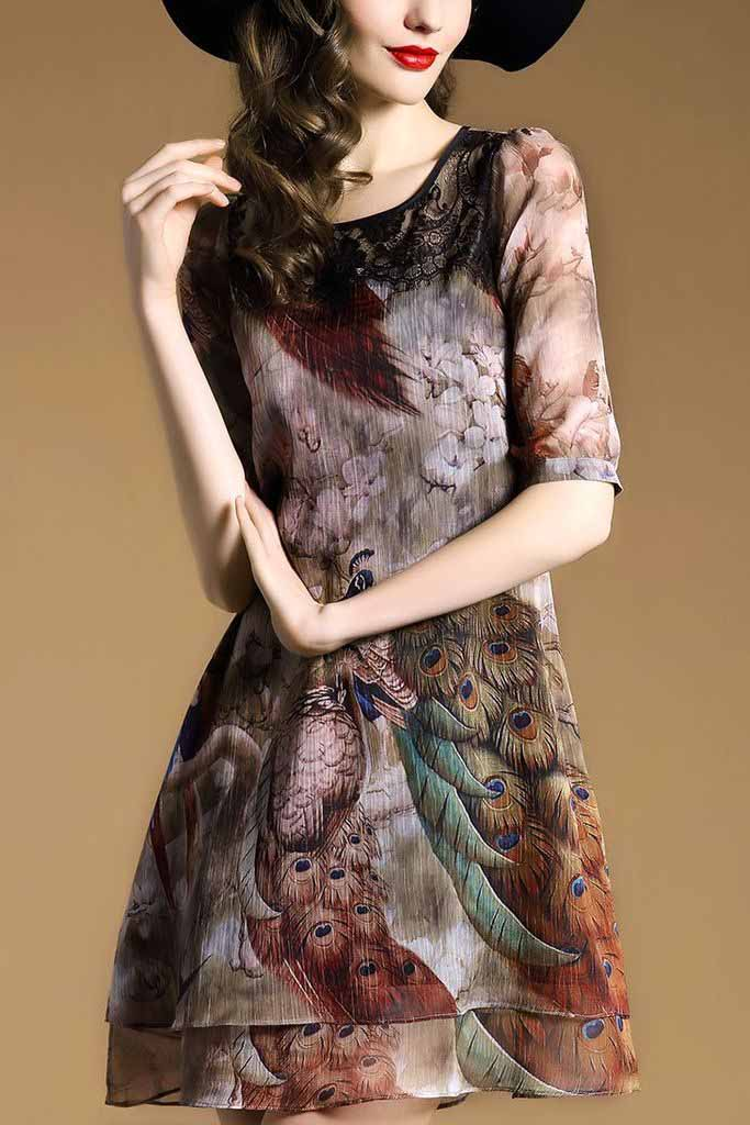 DRESS WANITA KOREA MOTIF CANTIK IMPORT