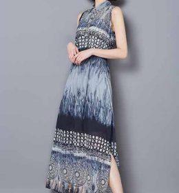 LONG DRESS MODEL LENGAN BUNTUNG 2017