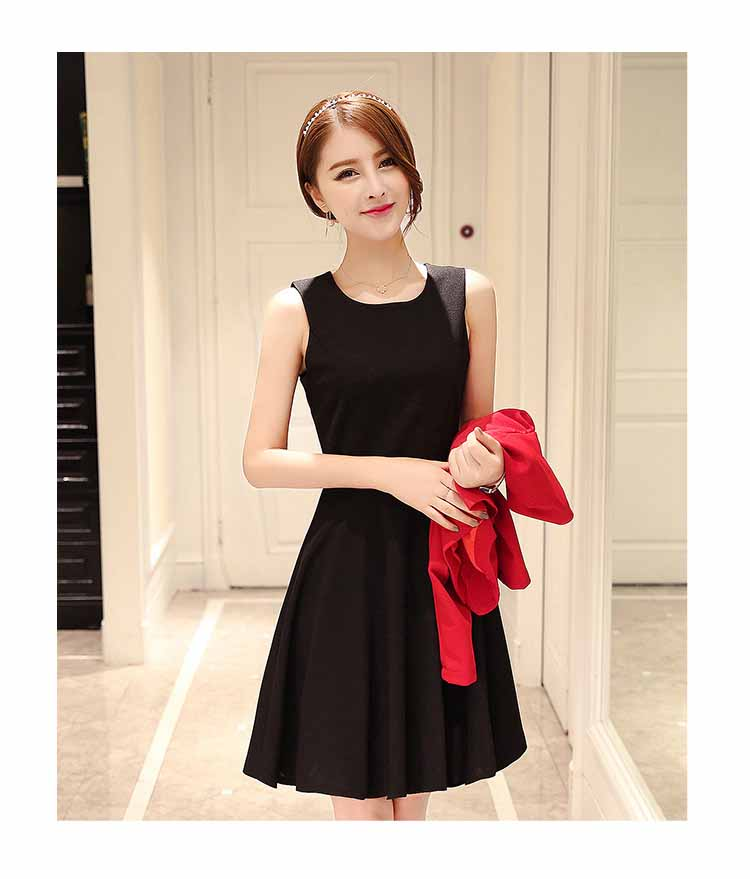 JUAL DRESS PESTA WARNA HITAM MERAH 2018
