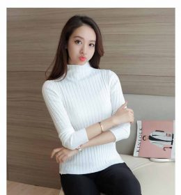 BAJU TURTLENECK WANITA SIMPLE MURAH 2018