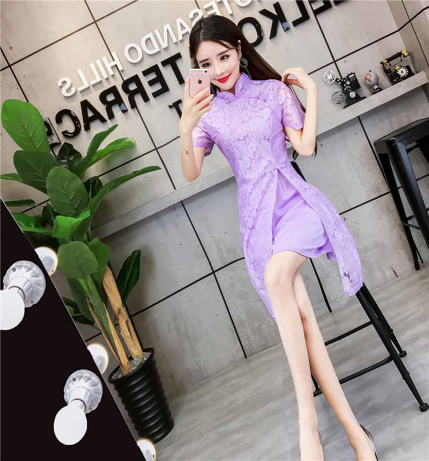 DRESS CHEONGSAM CANTIK TERBARU MURAH 2018 IMPORT