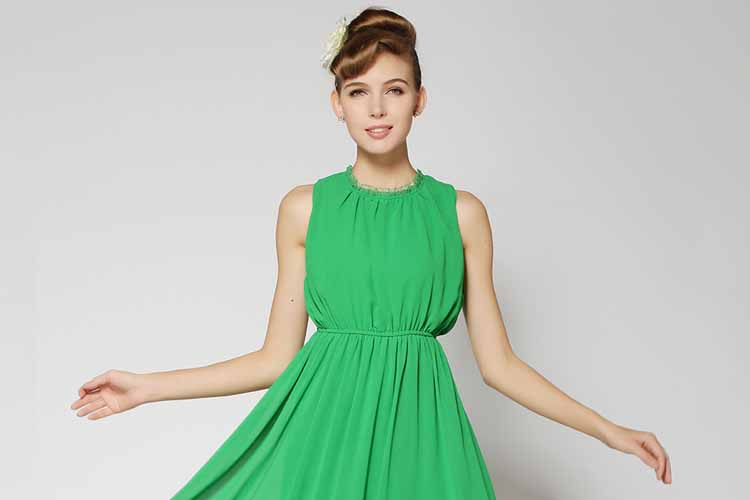 LONG DRESS PESTA LENGAN BUNTUNG 2018 KOREA