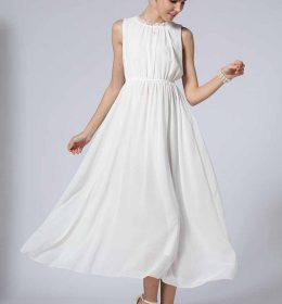 LONG DRESS PESTA WARNA PUTIH TERBARU