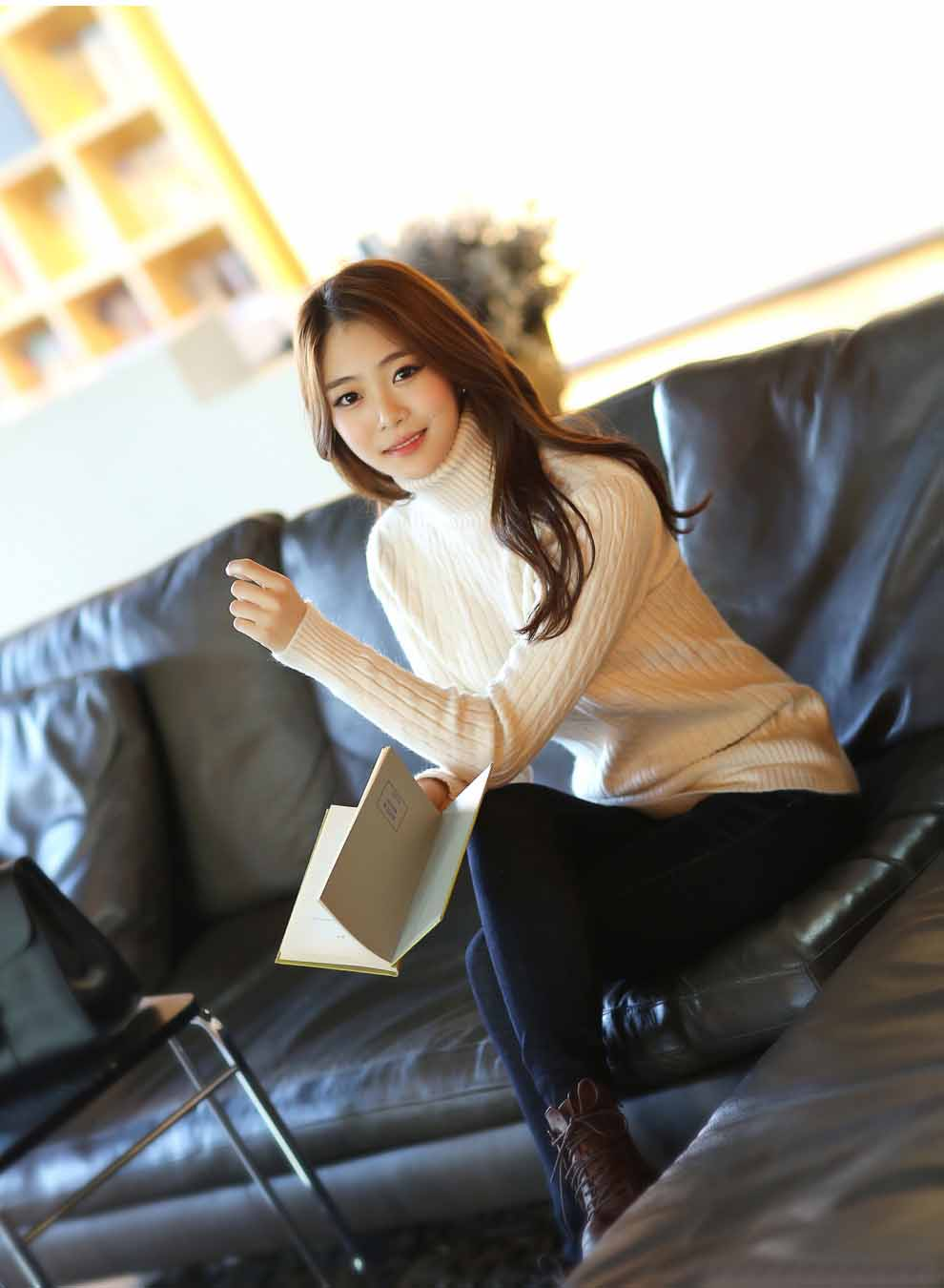 TURTLENECK WANITA RAJUT IMPORT MURAH KOREA