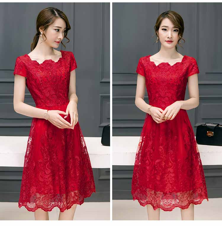 JUAL BAJU DRESS BROKAT KOREA MURAH 2018