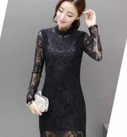 JUAL DRESS PESTA BROKAT HITAM MODEL TERBARU