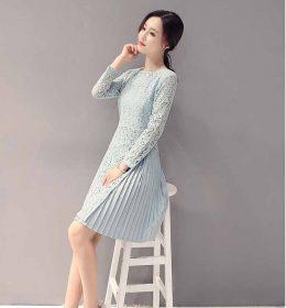 DRESS BROKAT LENGAN PANJANG TERBARU 2018